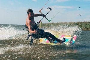 Kiteschule Kitemafia, Aron beim Kiten